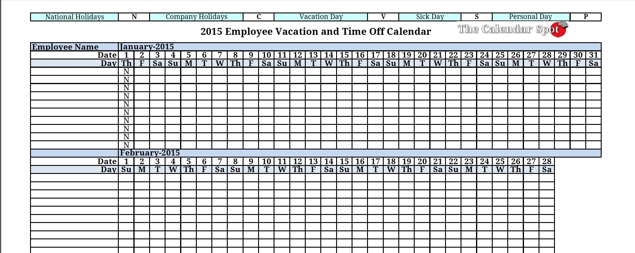 004 Employee Tracking Template Ideas Vacation Calendar Excellent pertaining to Downloadable Employee Vacation Calendar 2015