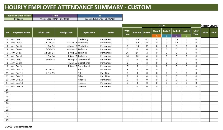006 Template Ideas Part Time Employee Attendance Tracker Custom in Excel Employee Attendance Calendar Template