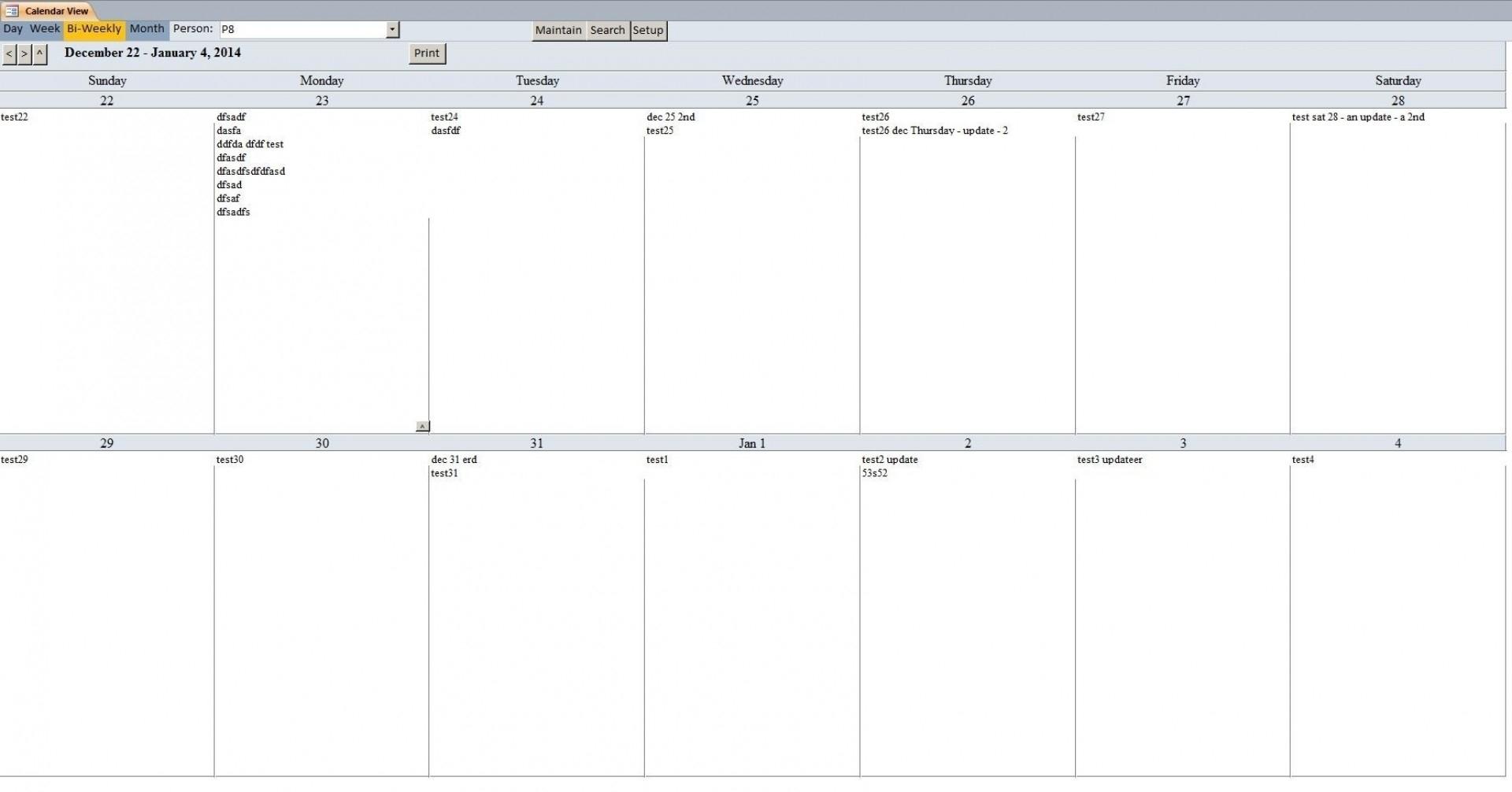 011 Two Week Printable Calendar Template Stupendous Ideas Print 2 for Two-Week Calendar Template Word Printable