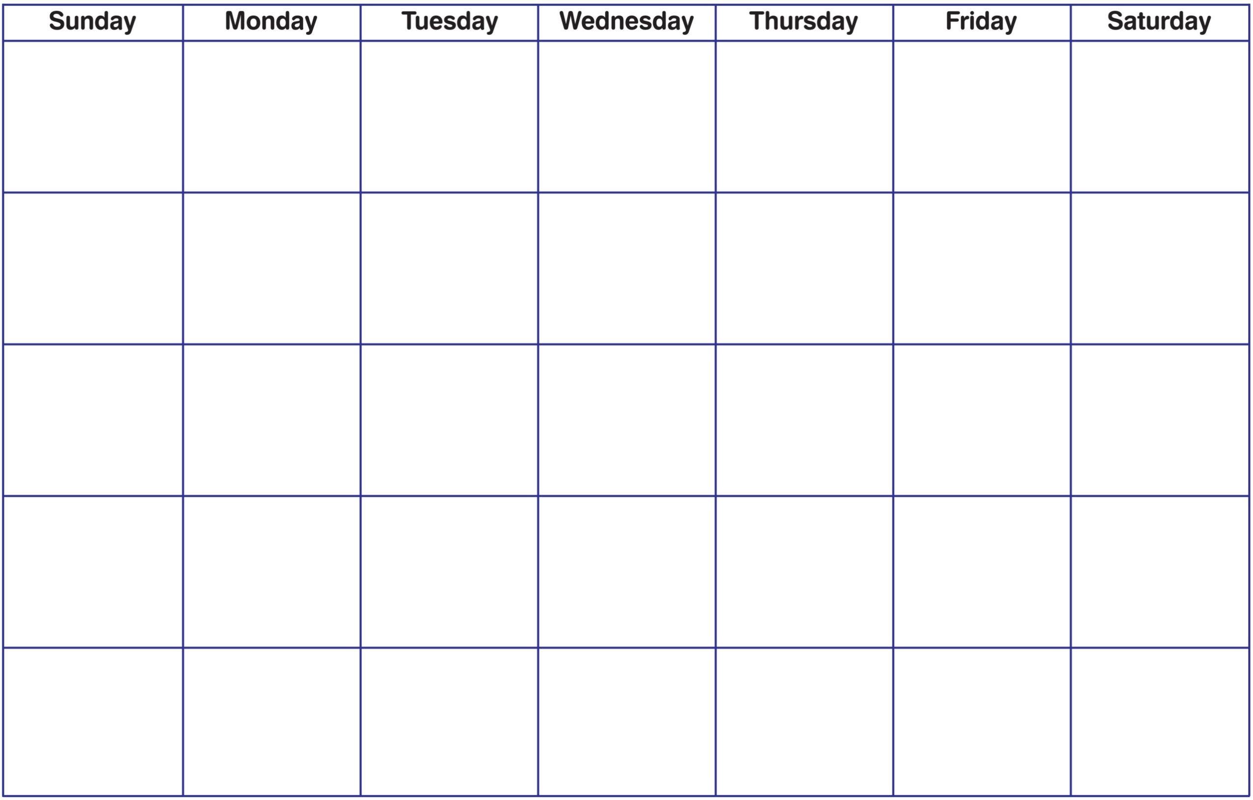 017 Blank Monthly Calendar Template Ideas Printable Pdf Unusual inside Fill In Monthly Calendar Template