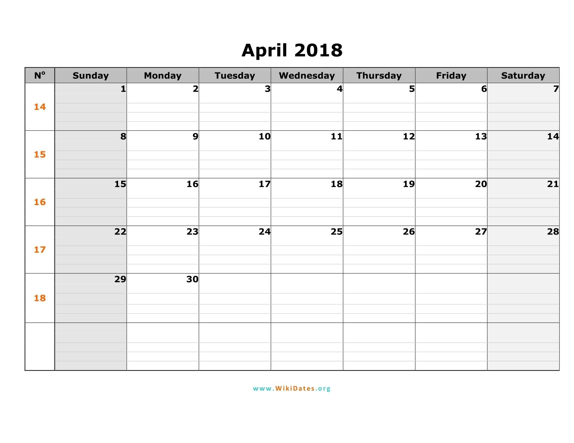 018 Two Week Calendar Template April Sunday Stupendous Ideas Excel regarding Print A Two Week Calendar