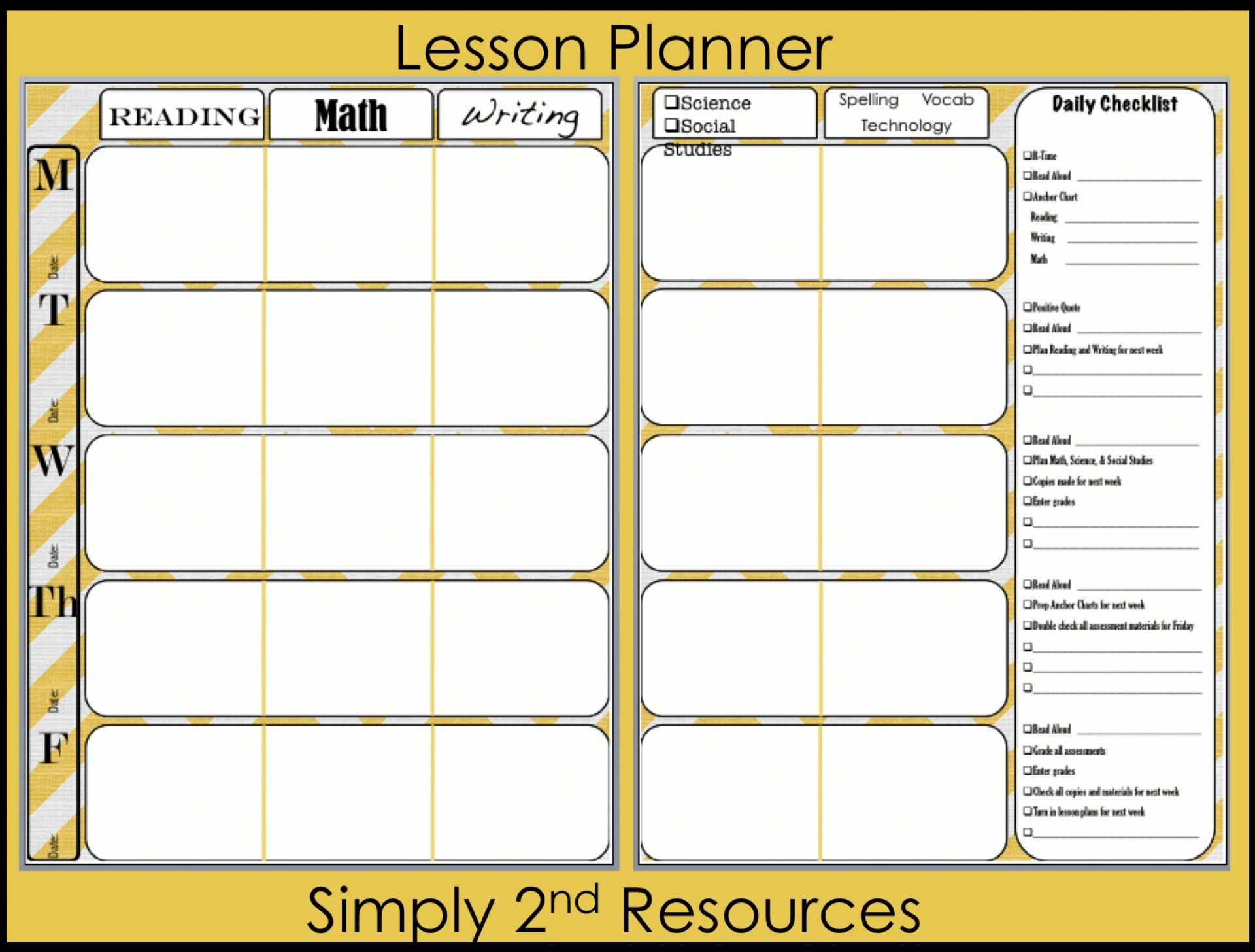 021 Plan Template Homeschool Lesson Excel Free Weekly Elegant Design in Weekly Calander Lesson Plan Template