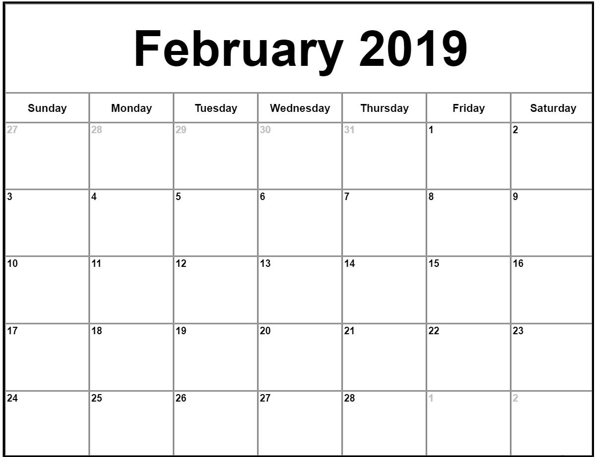 022 Free Printable Calendar Templates February Month Template in Free Fill In Calendar Templates Month