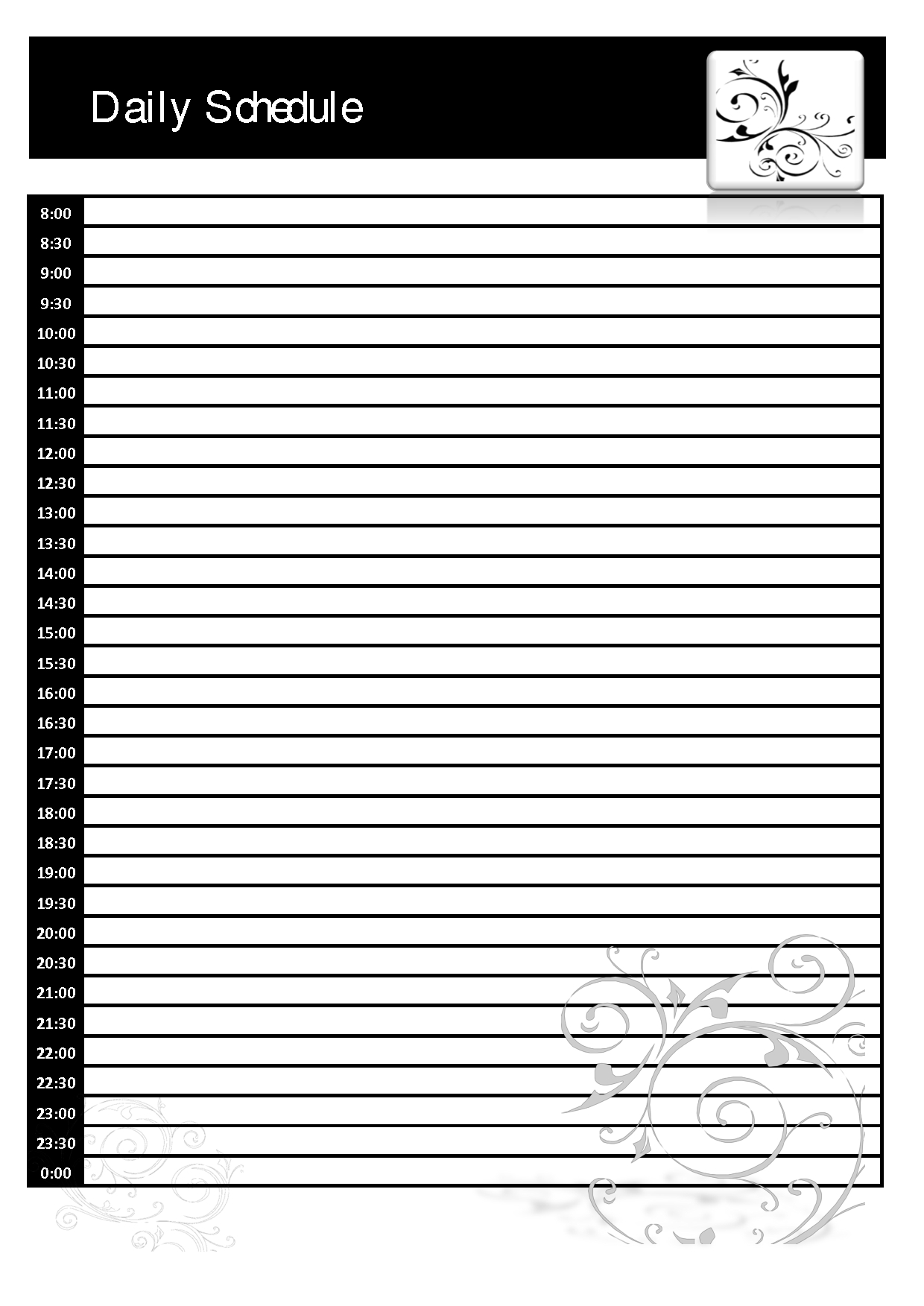 024 Daily Planner Template Printable Ideas Blank Schedule 128247 for Daily Planner Template Printable Free