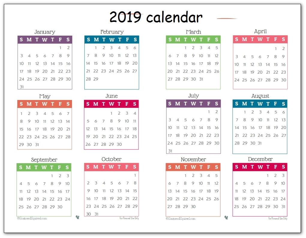 1 Page Year Long Calendar Printable Free | Template Calendar Printable inside Blank Calendar Page Year Long