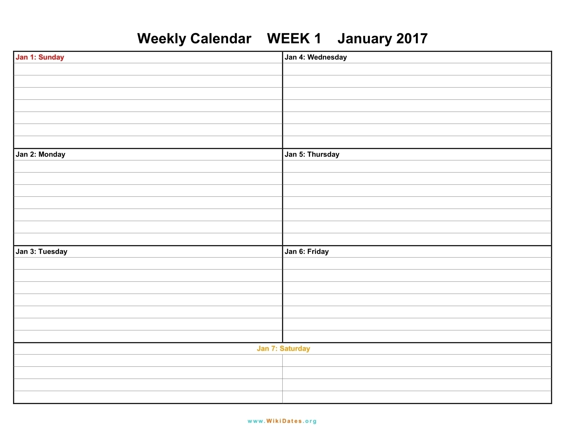 1 Week Blank Calendar Template | Template Calendar Printable in Blank 2 Week Printable Calendar