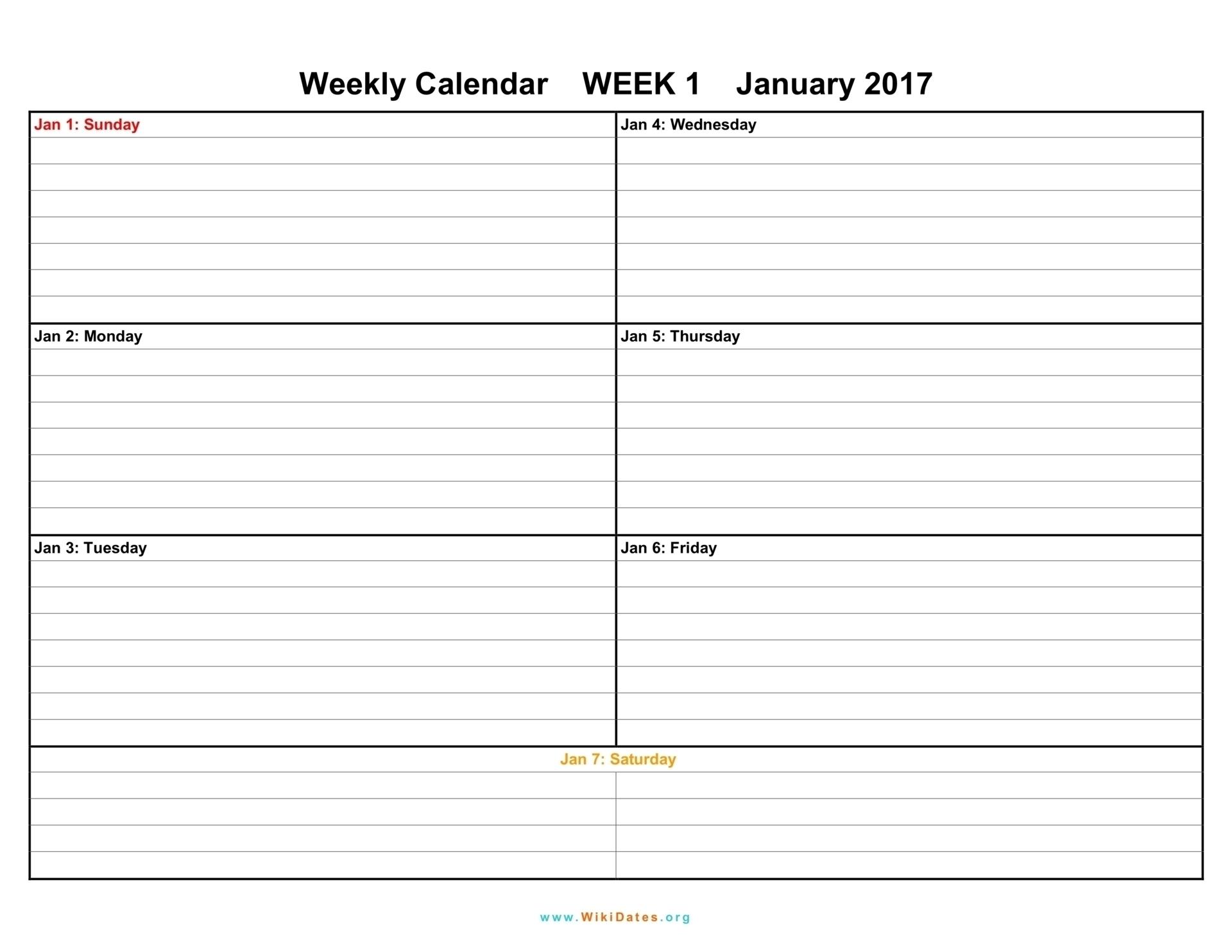 1 Week Blank Calendar Template | Template Calendar Printable throughout 1 Week Blank Calendar Template
