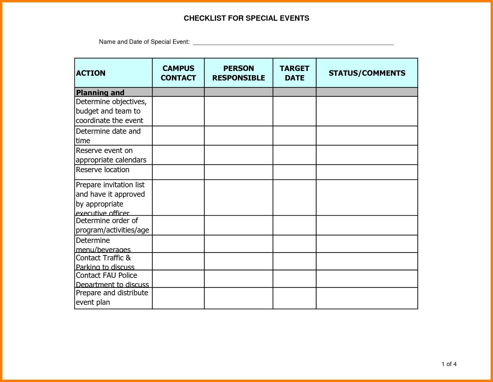 10+ Excel Template For Event Planning | Gospel Connoisseur for Event Guest List Template Excel
