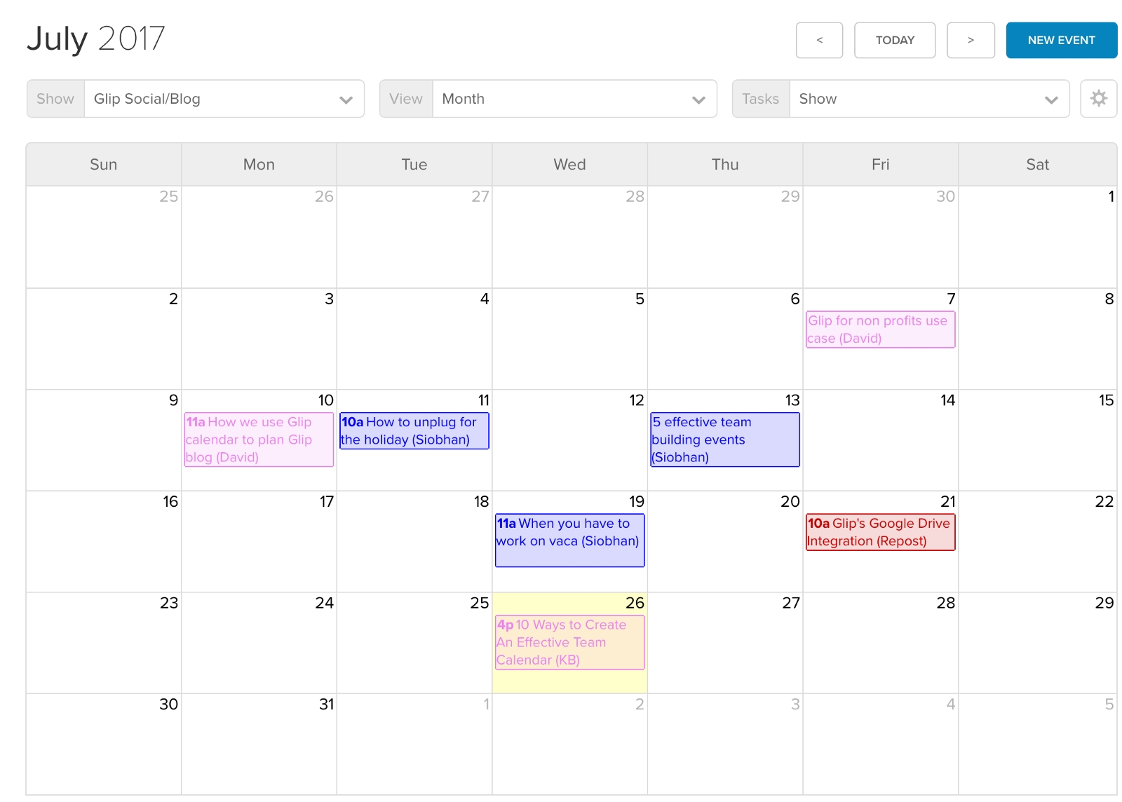 10 Ways To Create And Manage An Effective Team Calendar throughout Birthday Time Slot Scheduling Calendar