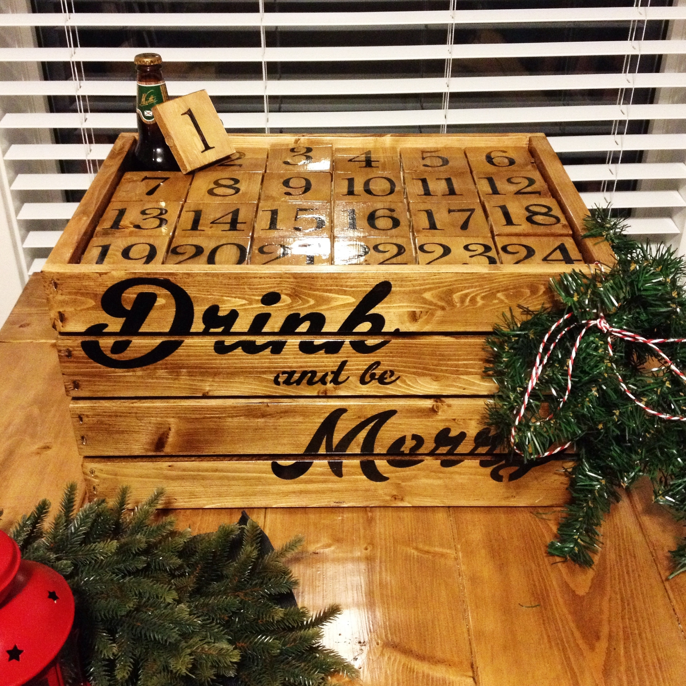 10 Ways To Diy Your Own Booze-Filled Advent Calendar · The Daily Edge with Create An Advent Calender Wooden
