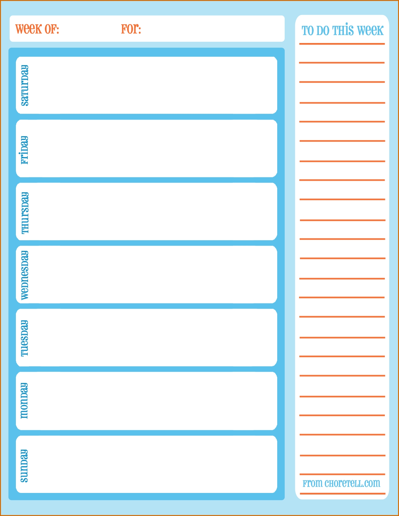 11+ Printable Weekly Calendar With Hours | Authorizationletters intended for Blank Calendar For This Week