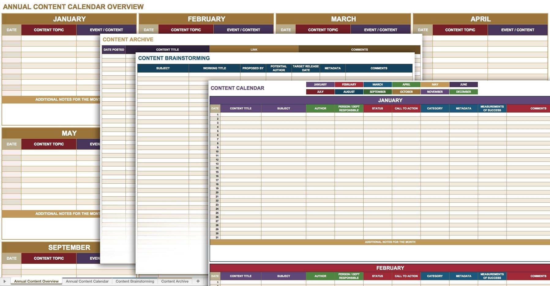 12 Free Social Media Templates | Smartsheet in Social Media Content Calendar Excel Template Free