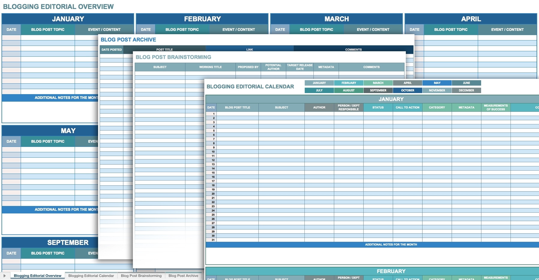 12 Free Social Media Templates | Smartsheet within Social Media Posting Calendar Template Free Printable Excel