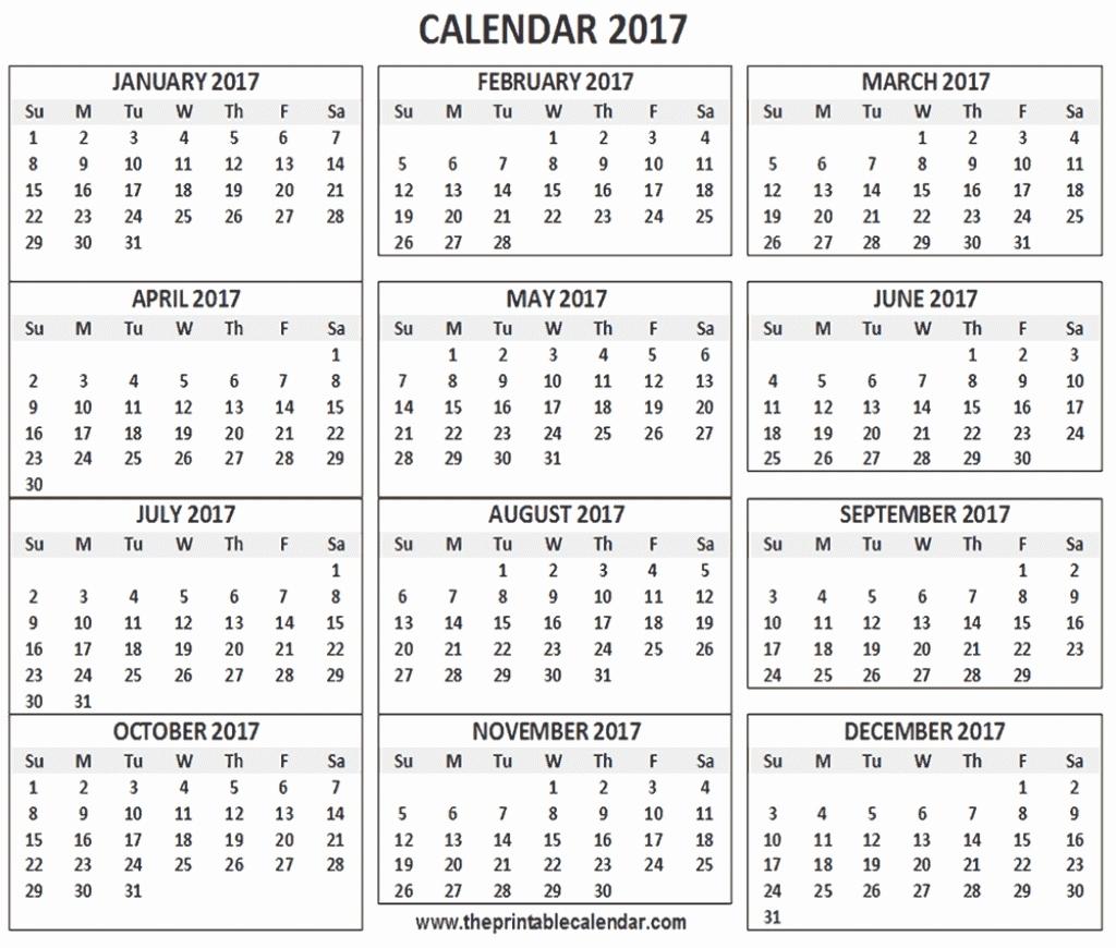 12 Month Free Printable Calendar 2019 12 Month Printable Calendar throughout 12 Month One Page Calendar