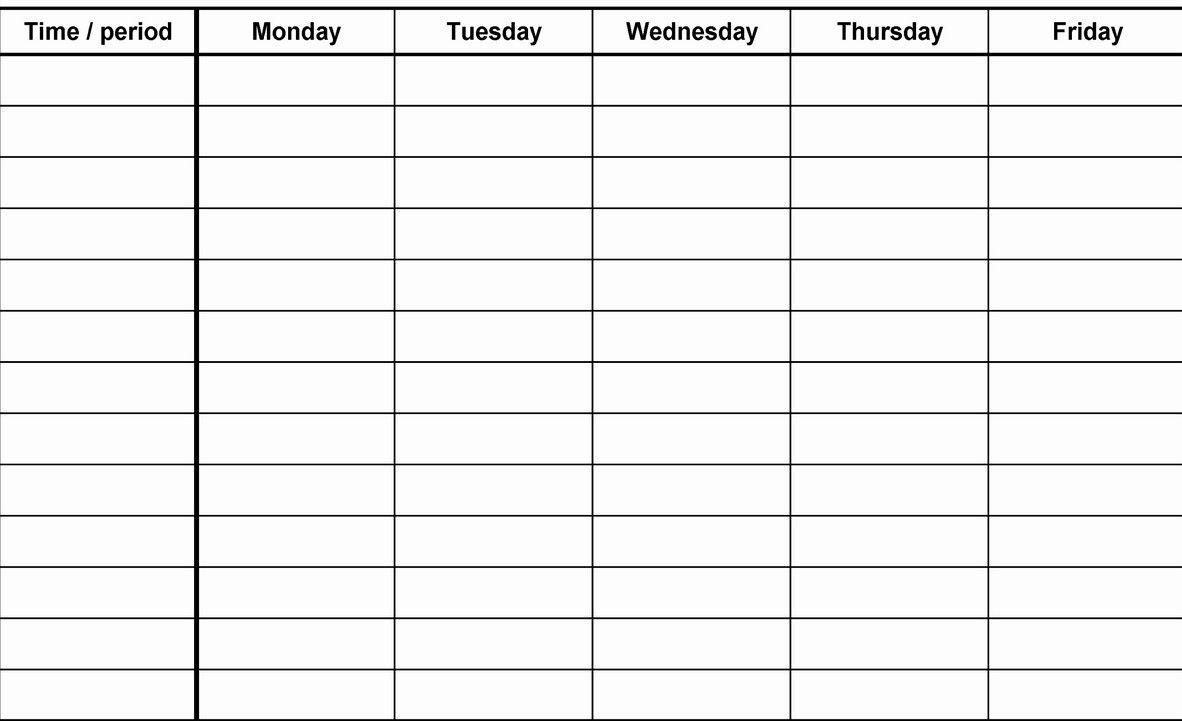 12 Week Blank Calenda Printable Template | Blank Calendar Template in 12 Week Blank Calendar Printable