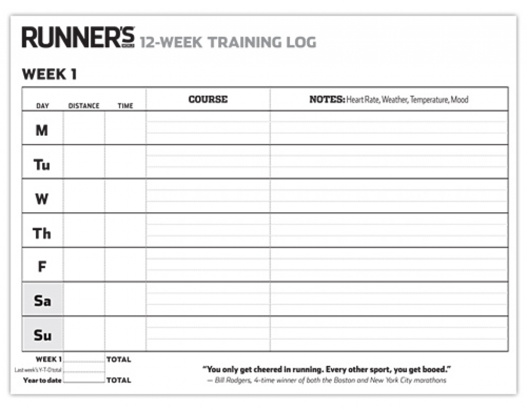 12 Week Blank Printable Calendar For Running | Template Calendar throughout 12 Week Blank Printable Calendar For Running