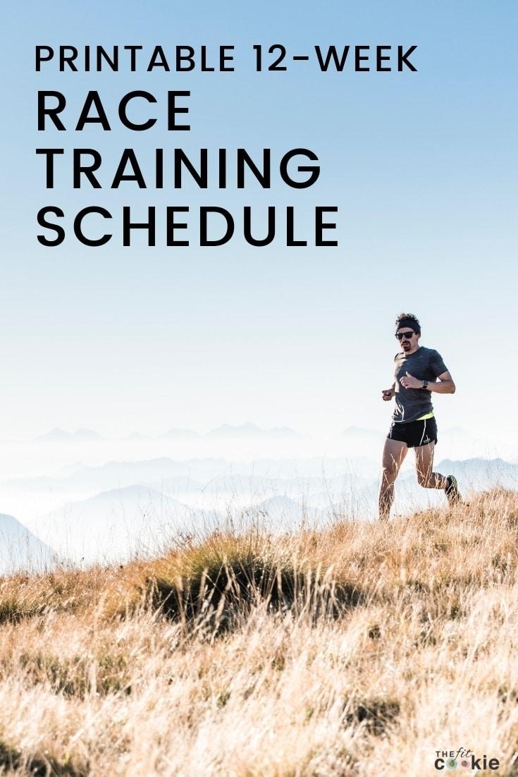 12-Week Blank Printable Race Training Schedule • The Fit Cookie inside 12 Week Blank Calendar Printable