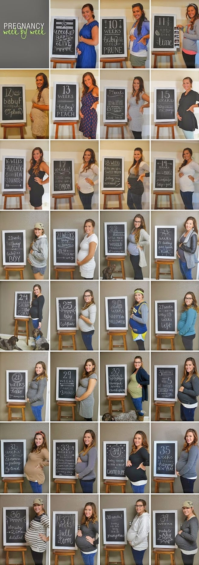 14 Weekly Photo Ideas To Take During Pregnancy | Mum's Grapevine in Pregnancy Photos Week By Week