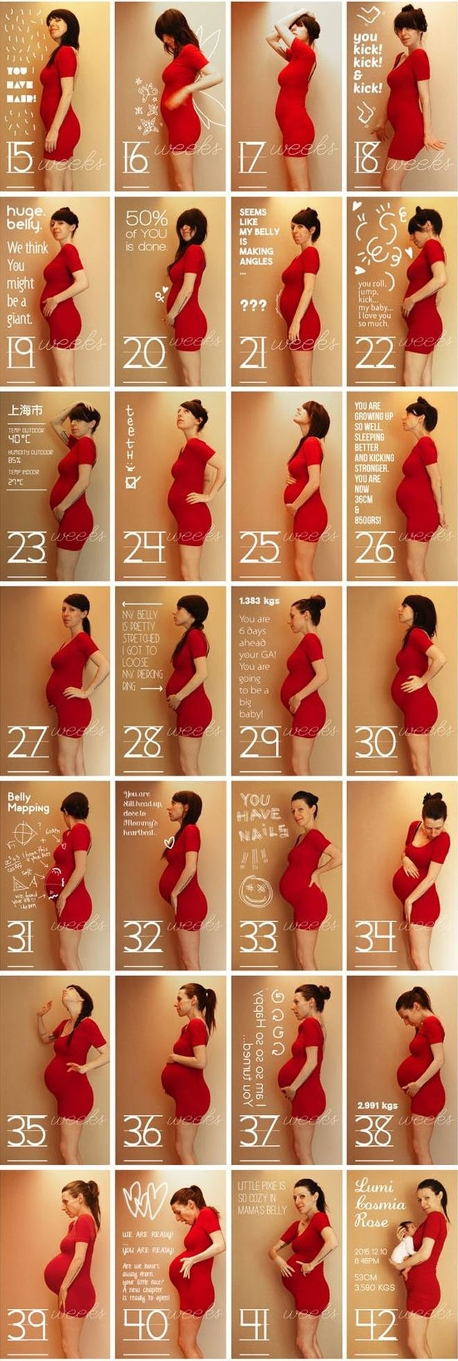 14 Weekly Photo Ideas To Take During Pregnancy | Mum's Grapevine regarding Pregnancy Photos Week By Week