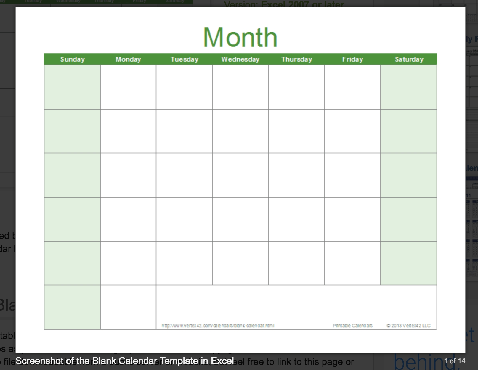 15 Free Monthly Calendar Templates Smartsheet. Free Blank Calendar pertaining to Blank Excel Spreadsheet With Calendar