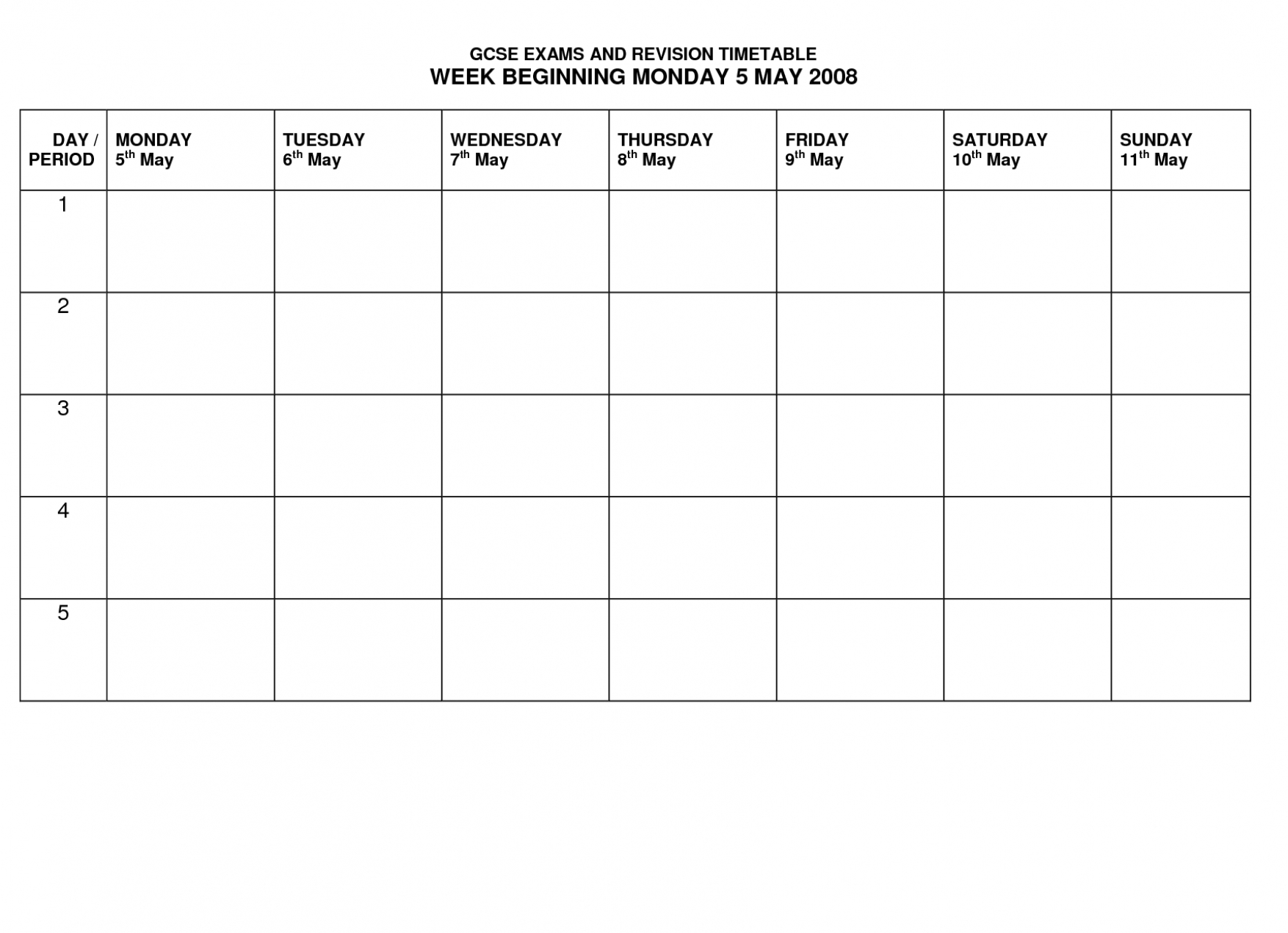 15+ School Timetable Template | Shawn Weatherly throughout Template For Monday Through Friday School Schedule