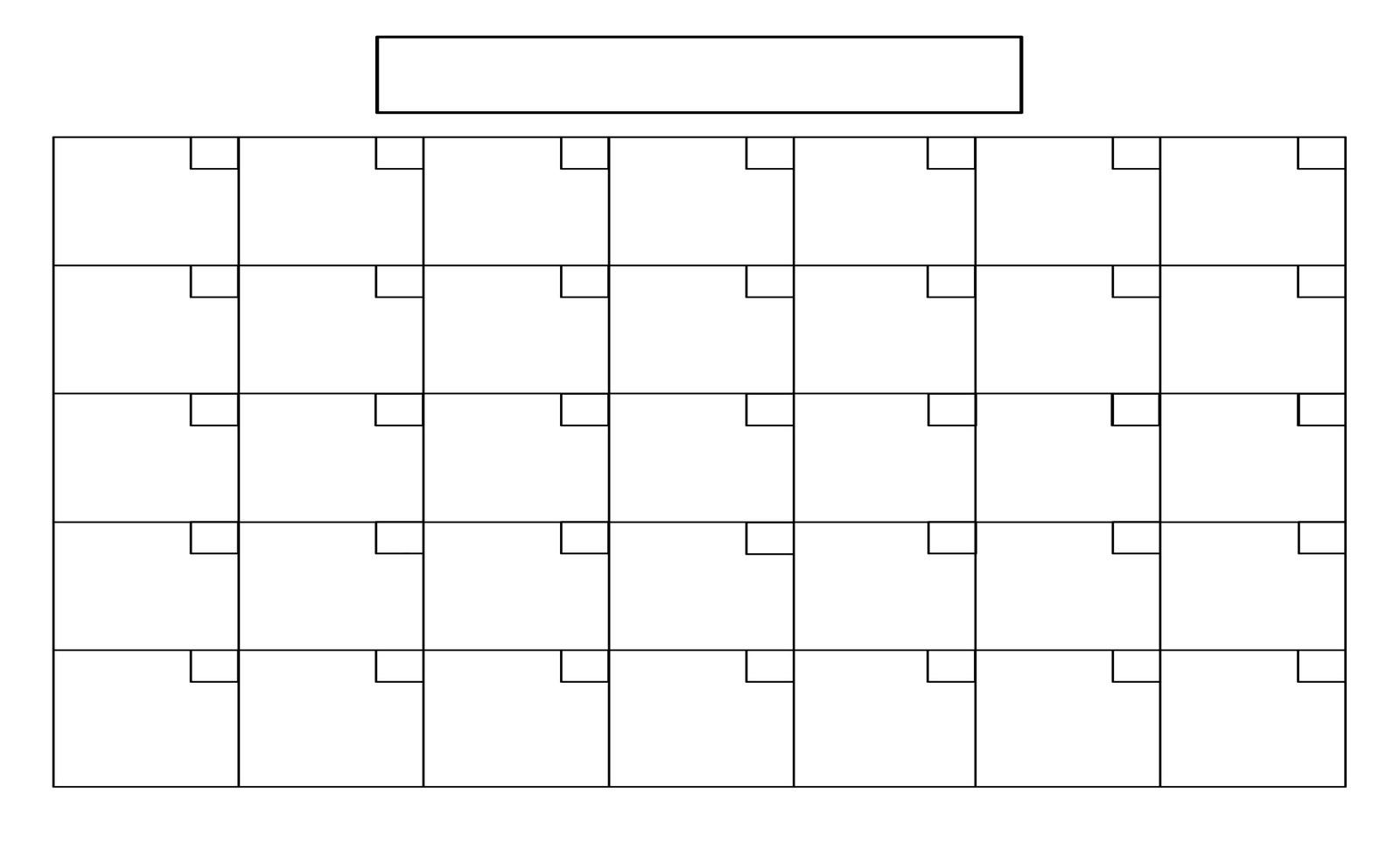16 Simple Blank Calendar Template Images - Full Size Blank Printable inside Full Size Blank Printable Calendar