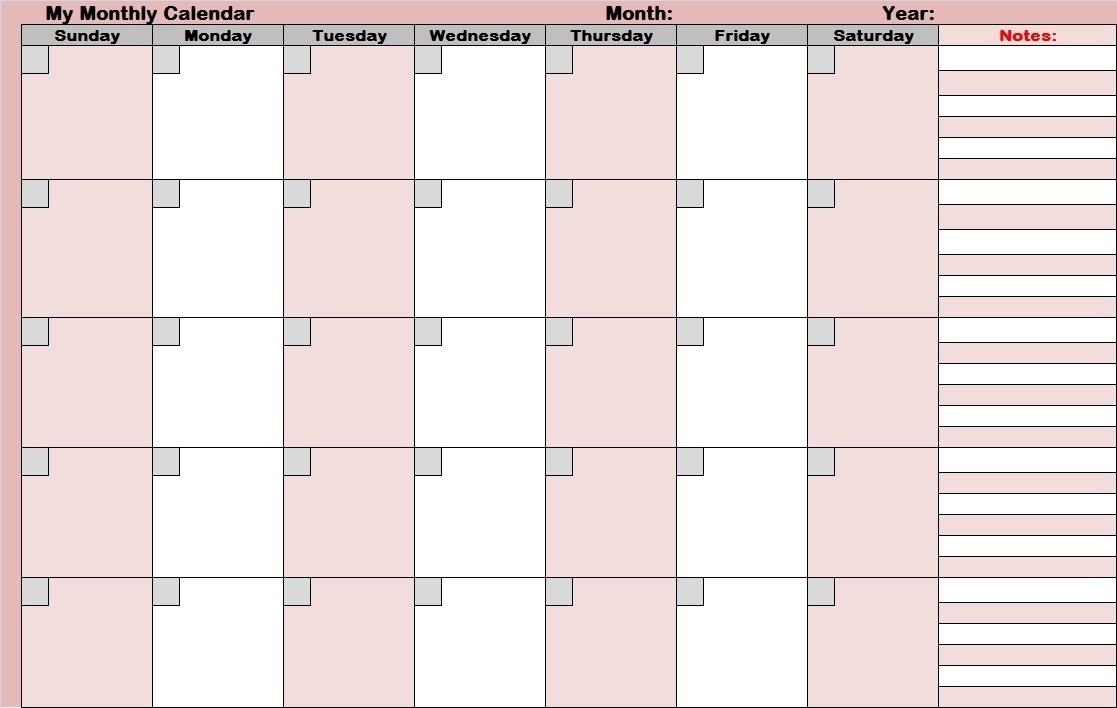 17 Blank Monthly Calendar Template Images - Printable Blank Calendar for Full Size Printable Monthly Calendars