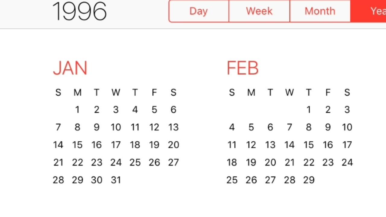 1996 Calendar - Youtube with 1996 August 29 Malayalam Calendar