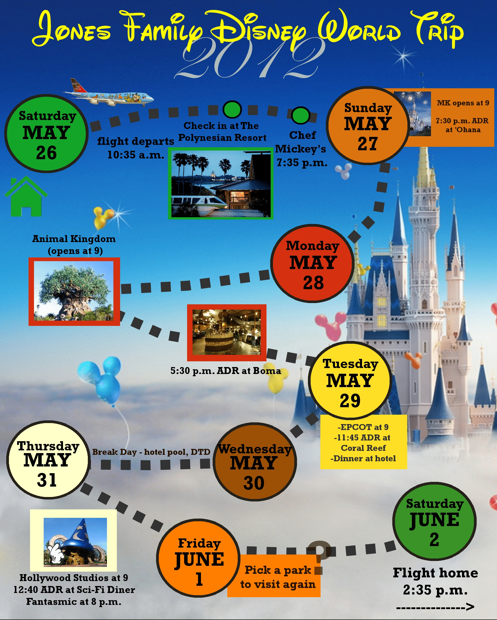 2 Custom Disney World Itinerary Templates | Wdw Prep School for Disney World Itinerary Template Blank