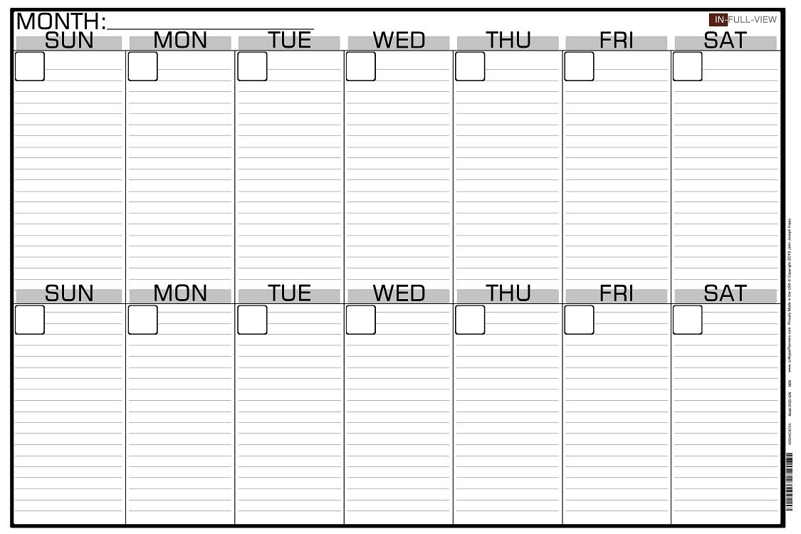 2 Week Blank Calendar Calendar Printable Free Free 2 Week Blank in Two Week Blank Calendar Template