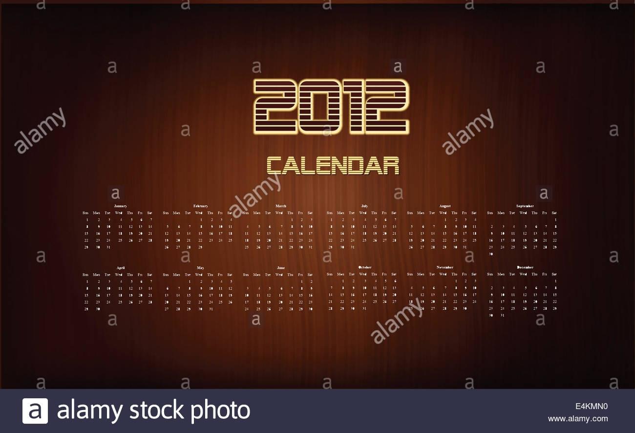 2012 Calendar Template Stock Photos & 2012 Calendar Template Stock for 2012 Calendar Sri Lanka With All Holidays