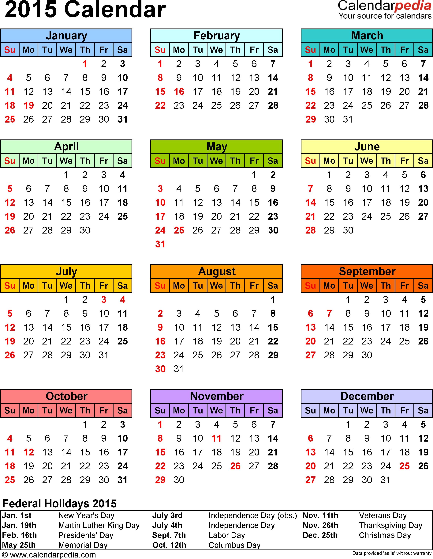 2015 Calendar - 16 Free Printable Word Calendar Templates with Editable 2015 Monthly Calendar Template