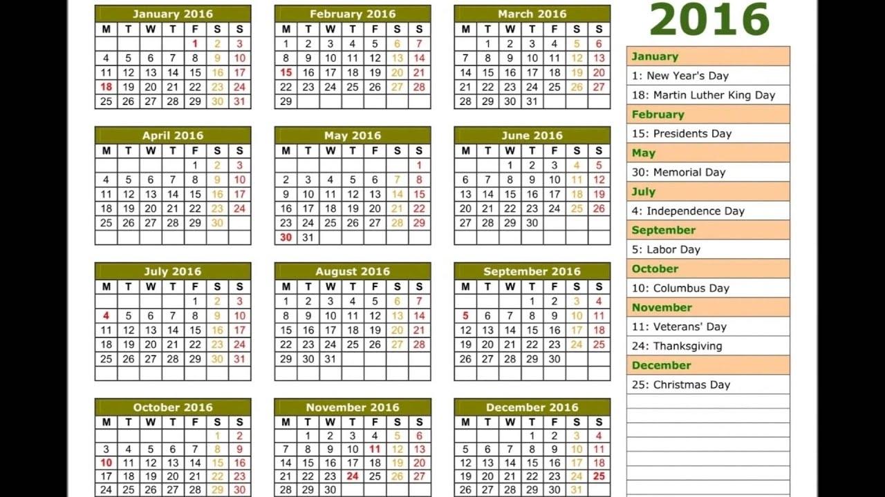 2016 Calendar - Youtube pertaining to Calendar 2015 With Bangla Calendar