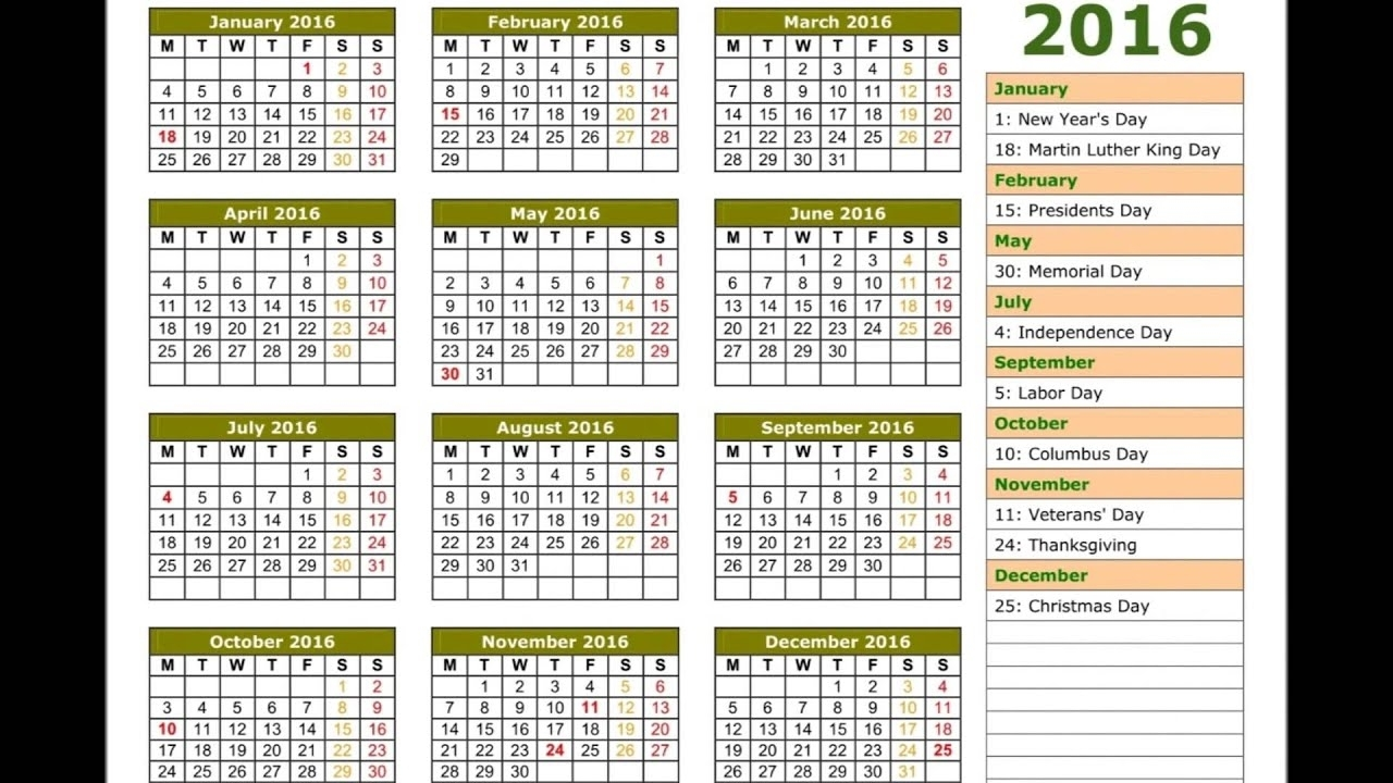 2016 Calendar - Youtube regarding Hindu Calendar With Tithi 2012 March