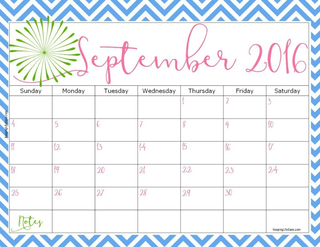2016 Free Printable Calendar - Keeping Life Sane pertaining to August Keeping Life Sane Printable Schedule