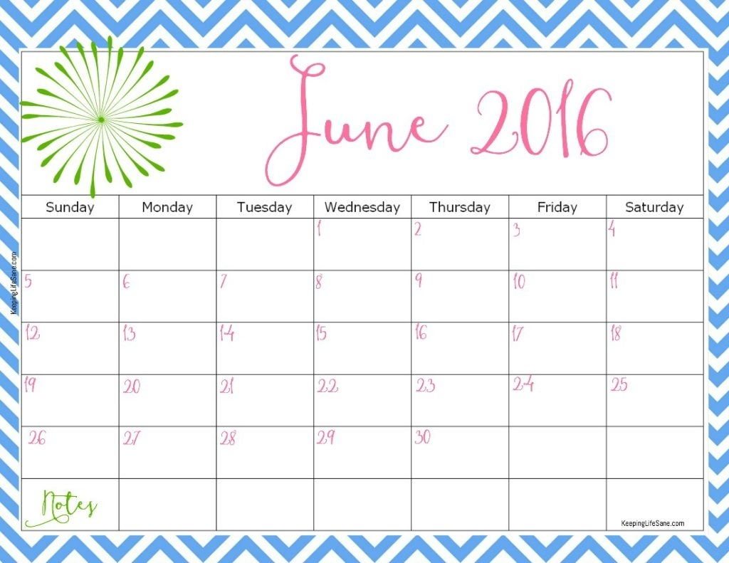 2016 Free Printable Calendar - Keeping Life Sane with August Keeping Life Sane Printable Schedule
