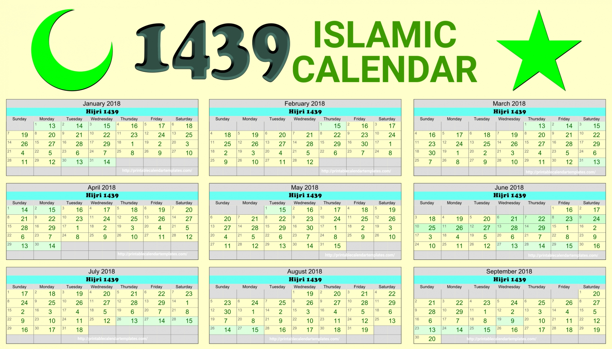 2016 Islamic Hijri Calendar Template Design Version 2. Hijri pertaining to Ramadan Calendar Of Saudi Areabia