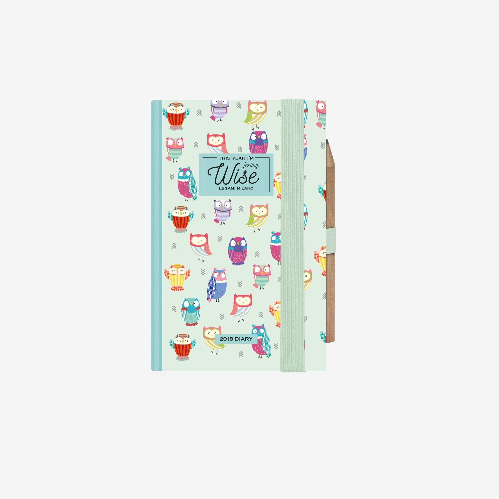 2018 - 12-Month 2 Days To View Mini Diary - Owls Print pertaining to Printable Months Of Year Owl