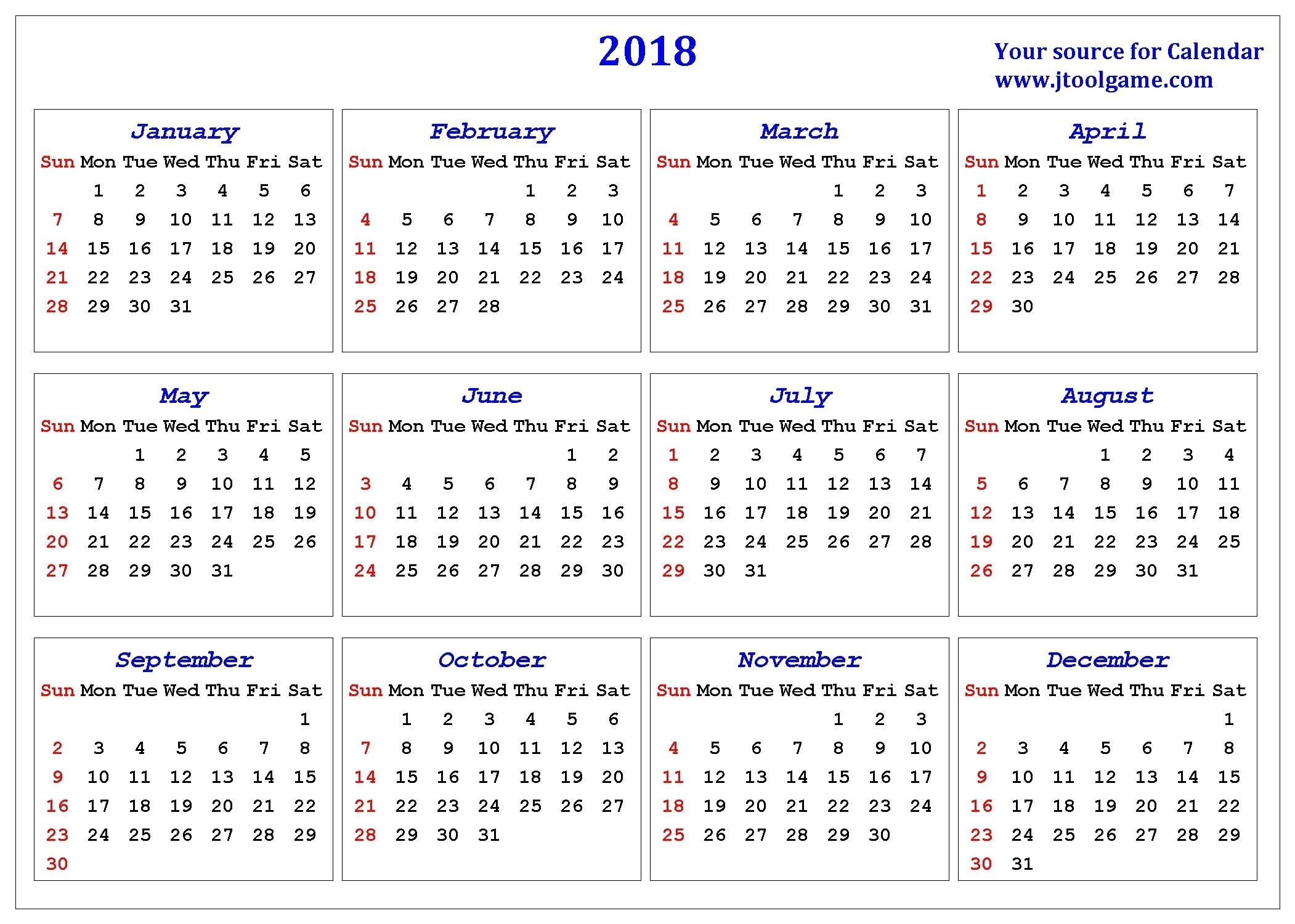 2018 Calendar Numbered Weeks | Jazz Gear for Number Of Weeks In A Year Calendar