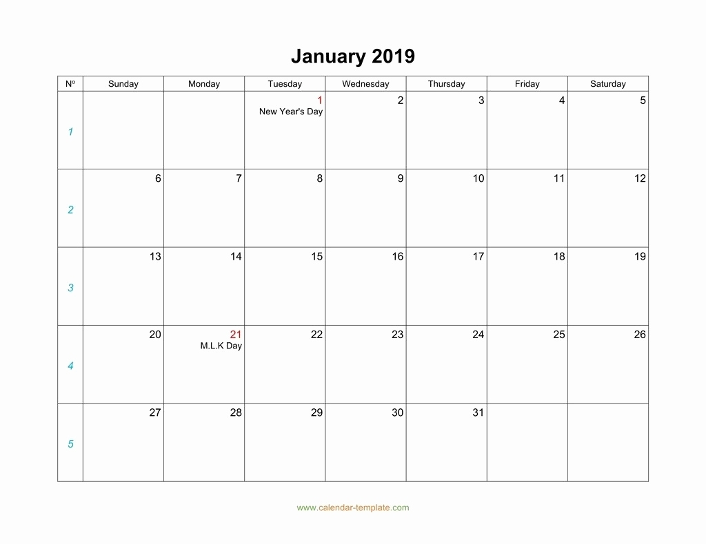 2019 Large Printable Monthly Calendar Blank Calendar 2019 throughout Printable Monthly Calendar With Lines Large