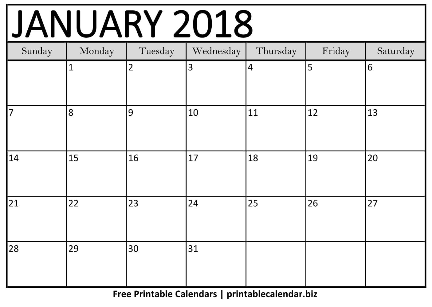 2019 Printable Calendar Templates - Printablecalendar.biz with regard to Fill In Calendar Template Printable