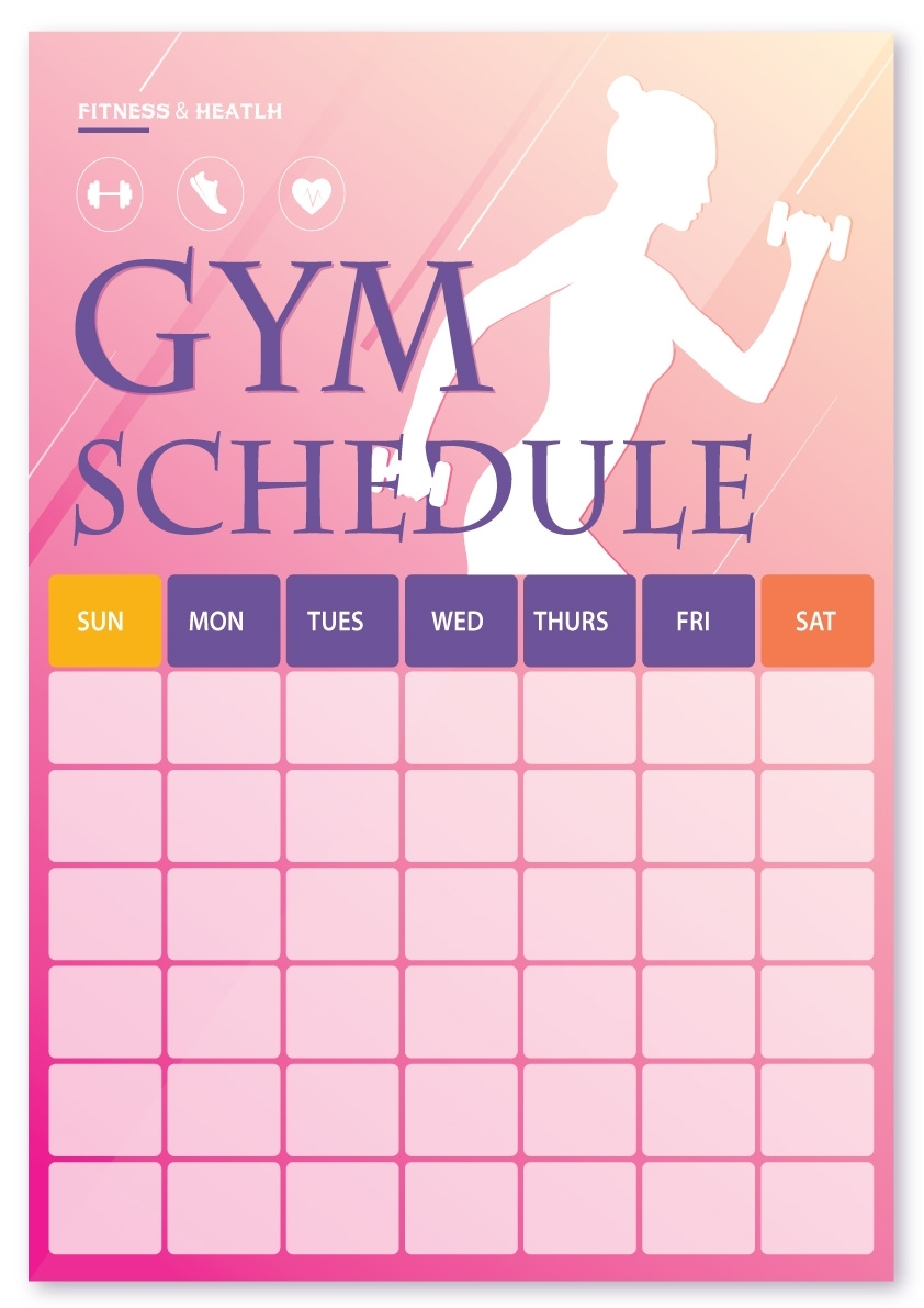 2019 Printable Gym/workout Schedule - Imgur regarding Printable Fill In Lifting Scedual