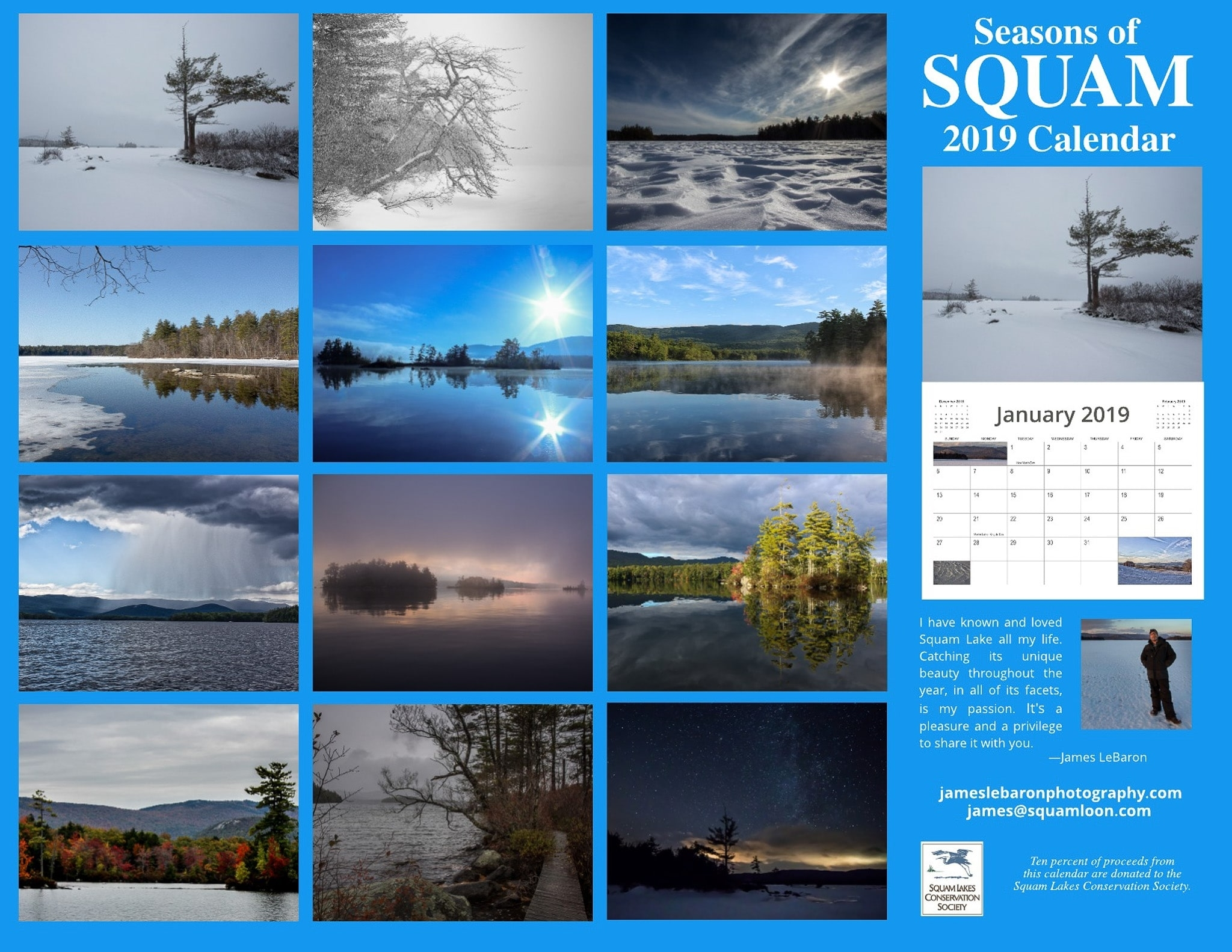2019 Seasons Of Squam Calendar intended for Calendar Prints Related To Beauty Of Water