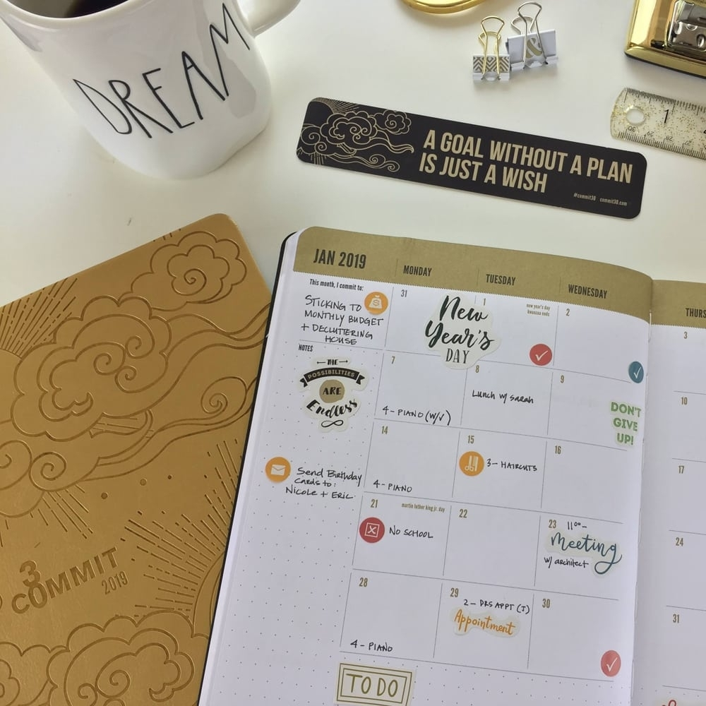 2019 Weekly Planner & Monthly Planner - Crush Your Goals All Year! inside 7 Day Time Weekly Planner