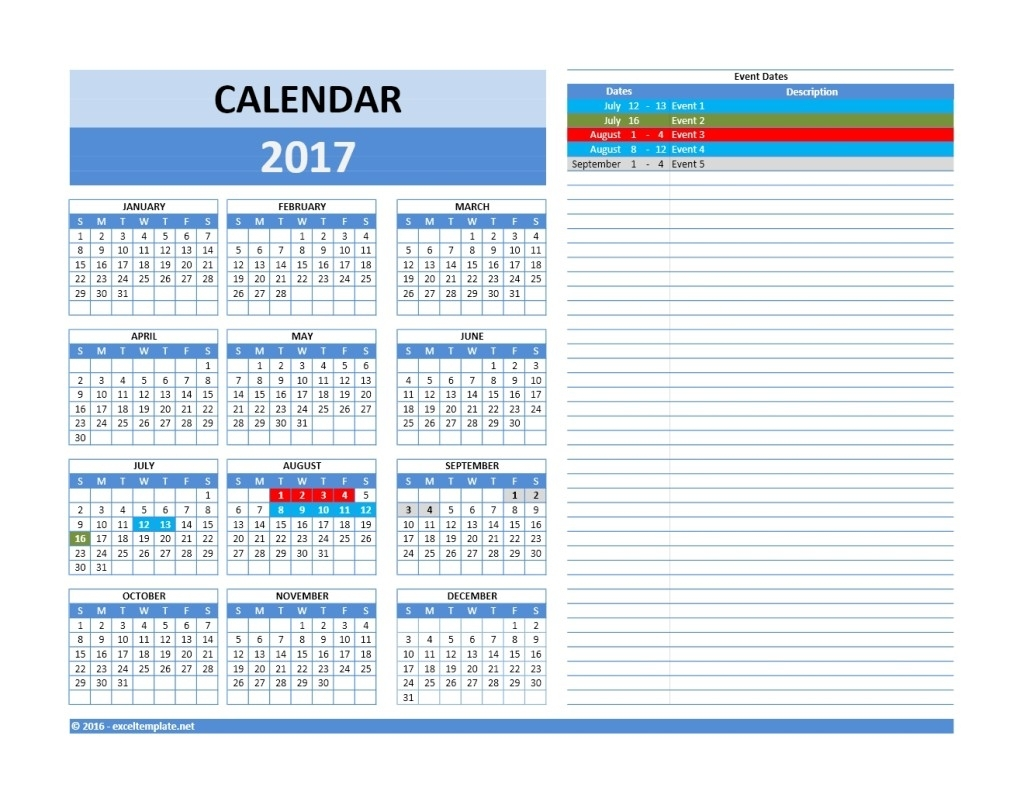 2019 Yearly Calendar » Exceltemplate intended for Outlook 2007 Calendar Event Template