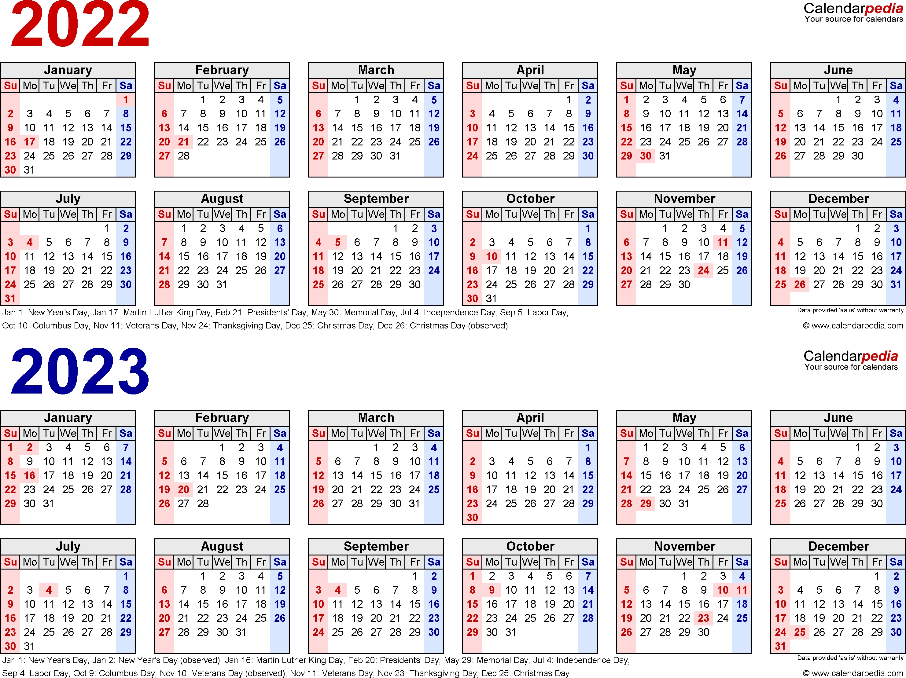 2022-2023 Calendar - Free Printable Two-Year Word Calendars within Blank Year Long Calendar 2022