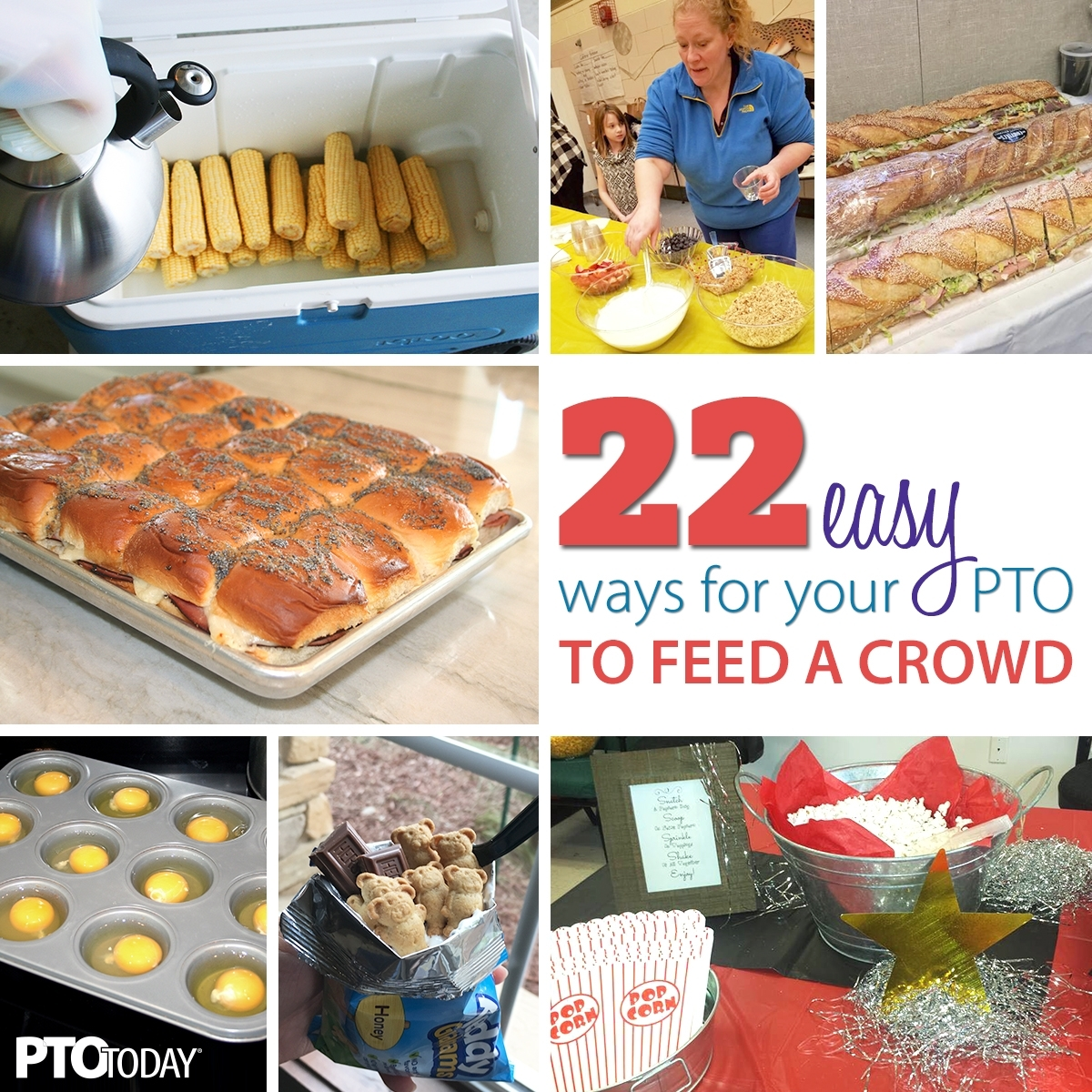 22 Easy Meal Ideas For Large Groups - Pto Today in Fun Snack Ideas For Meetings