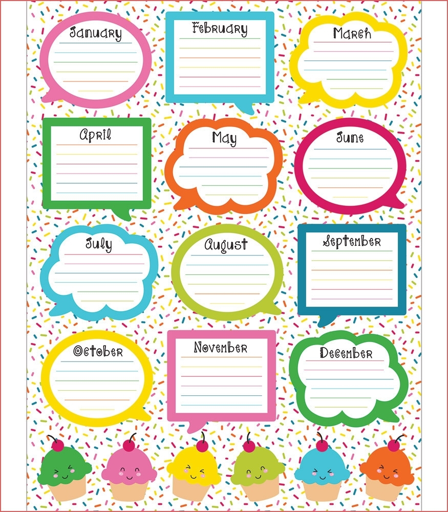 23 Birthday List Templates Free Sample Example Format Happy Birthday with regard to Free Printable Birthday Chart Templates