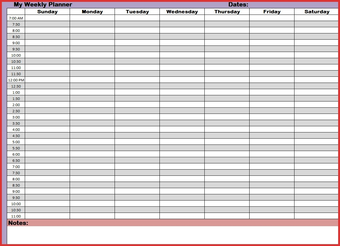 24 Hour Week Calendar Template Week Calendar With Hours Maths in 24 Hour Weekly Calendar Template