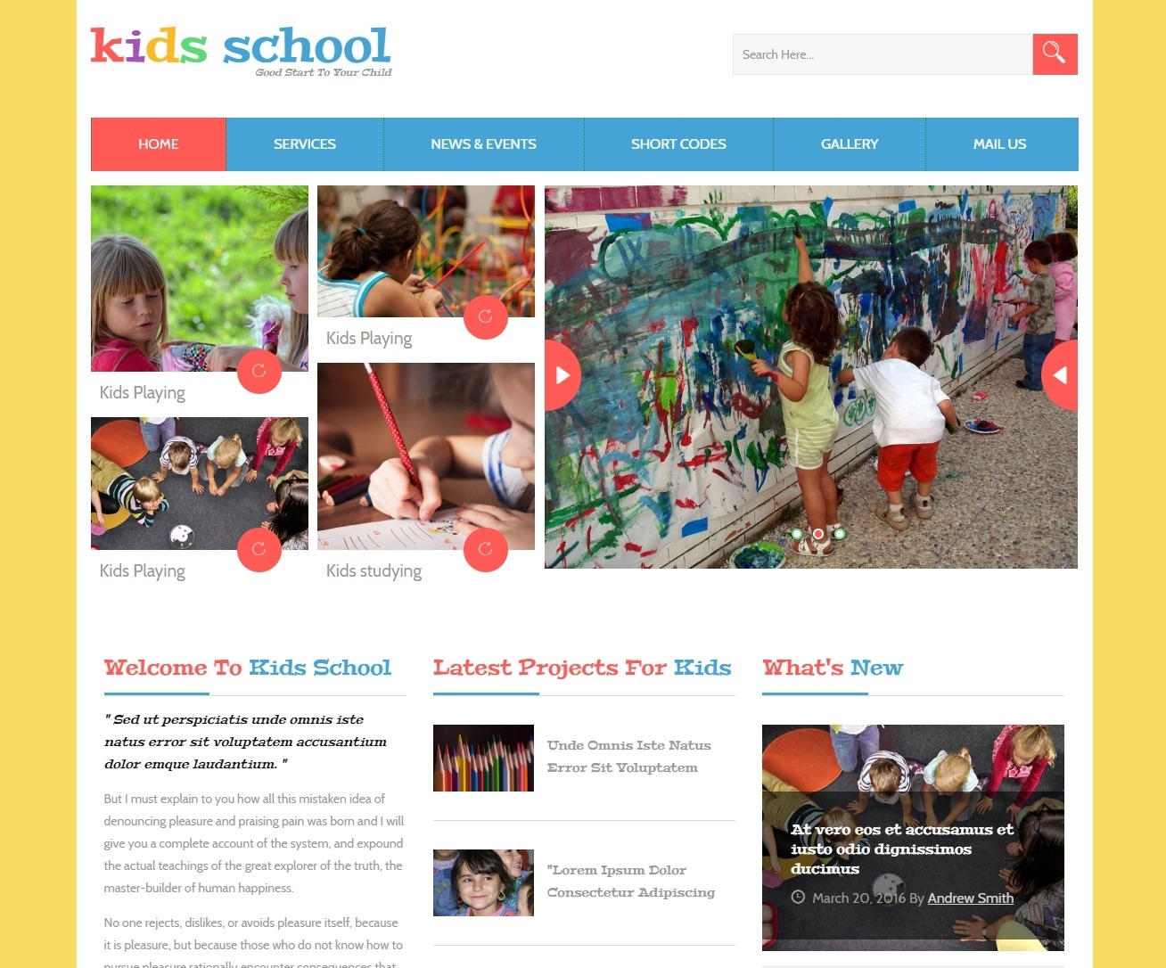 25+ Free Kindergarten Website Template Based On Bootstrap 2019 pertaining to Free Templates Online For Children